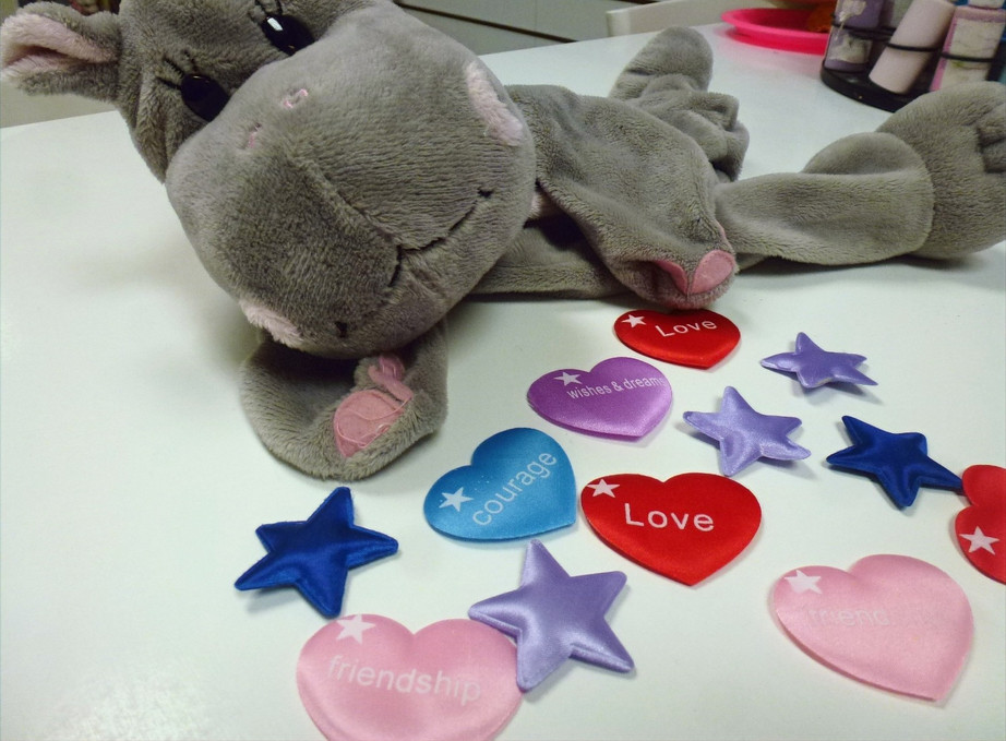 Selection of wish stars and hearts