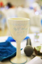 Wine goblet personalised