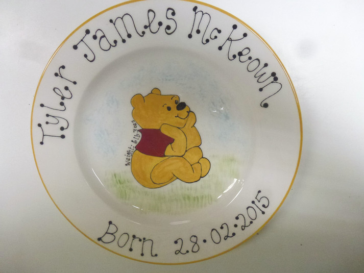 birth plate for new baby