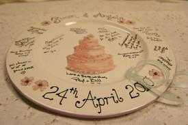 Handpainted signature wedding platter