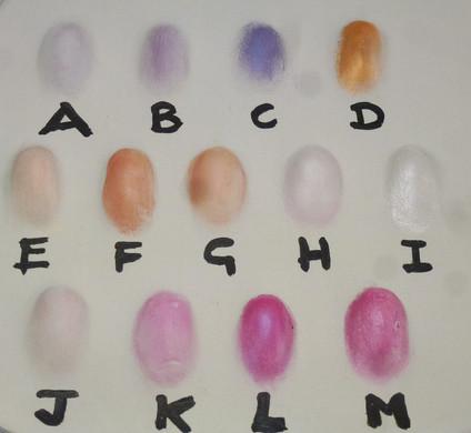 Baby outprint colour chart