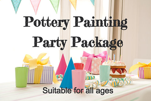 Adults Zoom Party Package - Pottery