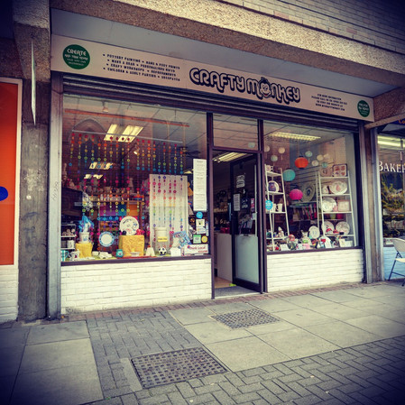 Crafty Monkey shop front
