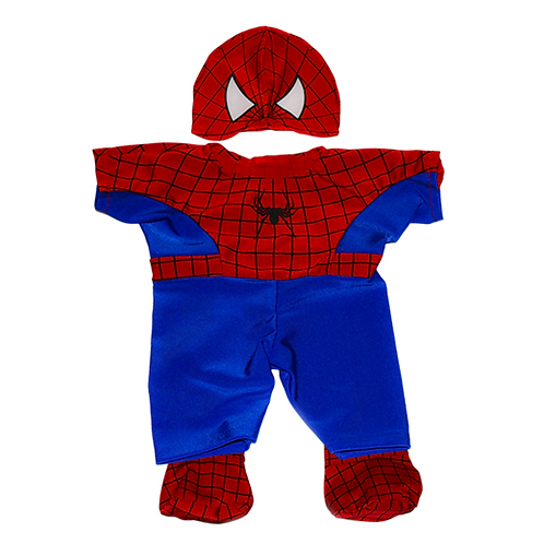 "Spiderman Teddy Costume (8"")"