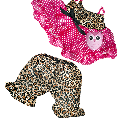 """Cute Leopard Owl Outfit (8"""")"""