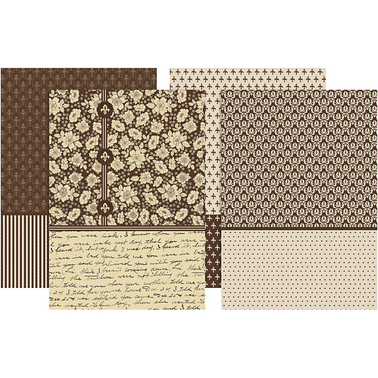 Brown decoupage papers viva gade