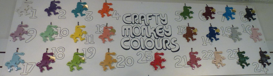 The Crafty Monkey colour board