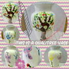 vase with handprint and footprints