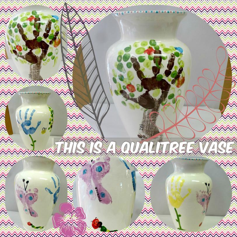 hand and footprint vase
