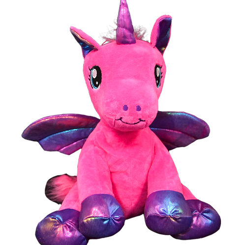 "Nova the Pink Winged Unicorn (8"")"