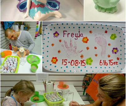 Pottery painting, fun for everyone!