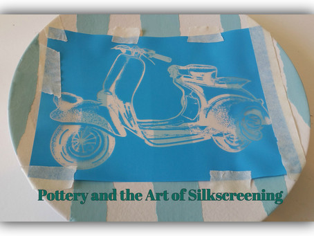 How to use silkscreens on pottery – a Step by Step Guide