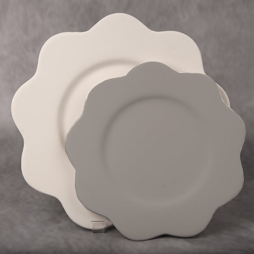 Curved Edge Dinner Plate