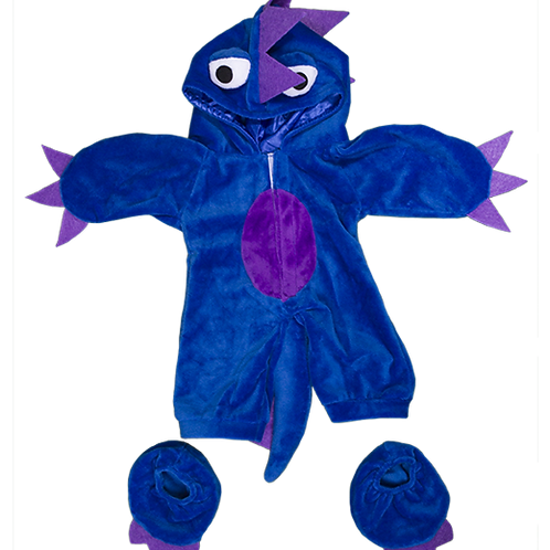 """Blue & Purple Monster Outfit (16"""")"""