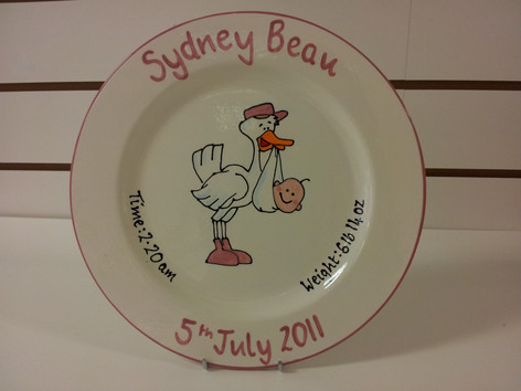 New baby commission plate