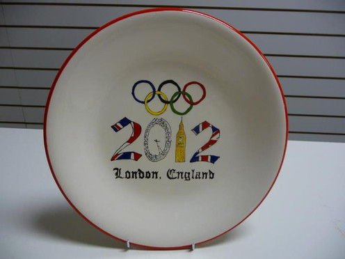 A plate to commemorate the 2012 Olympics in London