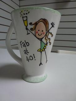 fab at 40 mug