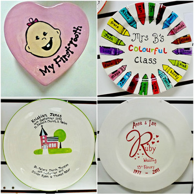 Collage of commissioned plates