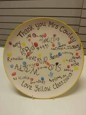 plate for teacher childrens fingerprints