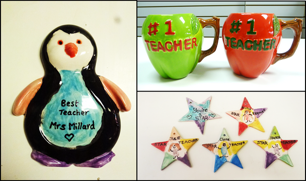 painted pottery teacher gifts