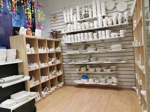 Retail area of Crafty Monkey