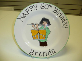 60th hand painted plate