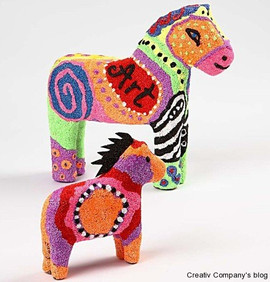 Example of foam clay horse