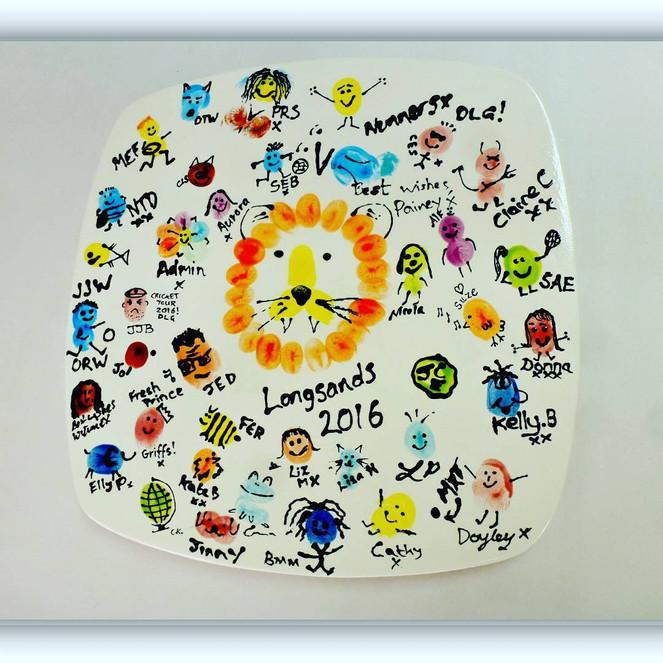 teacher gift fingerprint plate