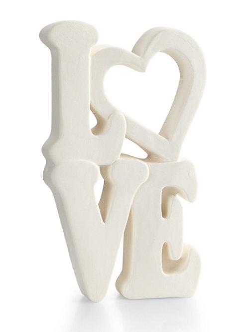 Standing Love Word Plaque