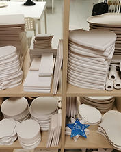 Plaques-coasters-pottery-hangers