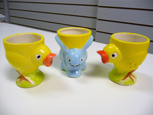 bunny and chick egg cups