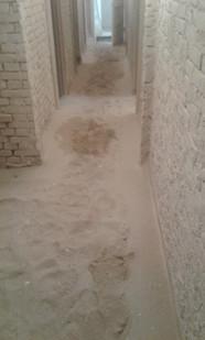 Samme kælder lige efter påbegyndt renovering. Skrot til slot.