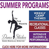 To The Pointe, summer, gymnastics, dance, intensive, performances
