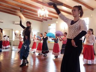 Curso de Flamenco en San Gregorio Profesora Marcela Arrieta
