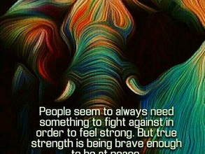 Just be the breath. Have courage