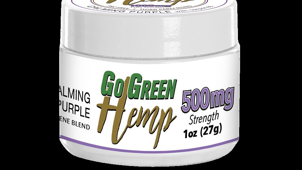 GoGreen Hemp CBD Balm Salve Calming Purple Terpene Blend