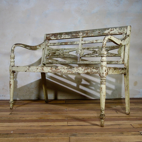 French Painted Garden Bench