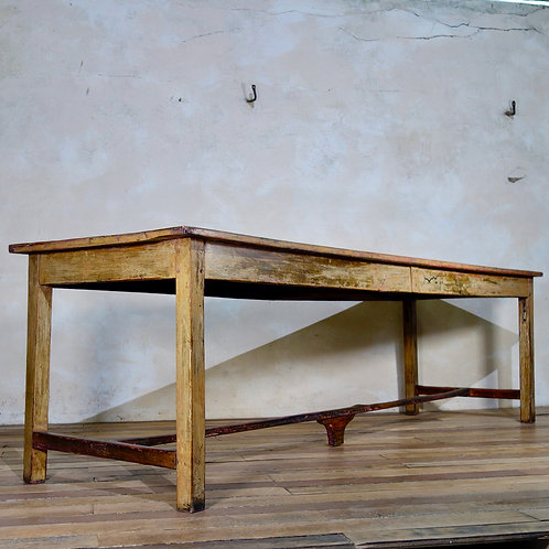 A Large Provincial Original Painted French Table