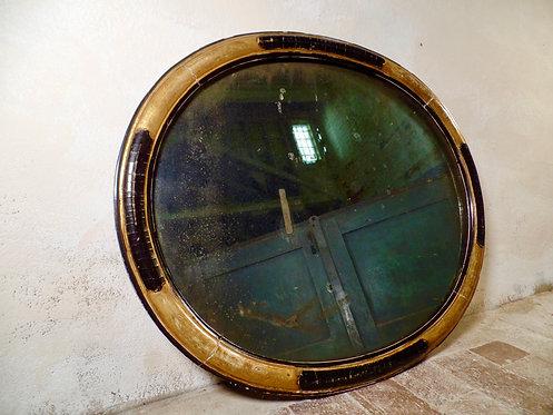 Victorian Gilt & Ebonised Oval Mirror