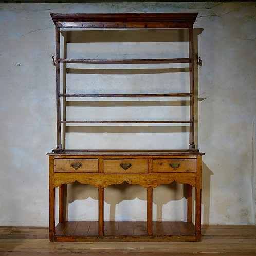 18th Century Fruitwood Farmhouse Pot Board Kitchen Dresser