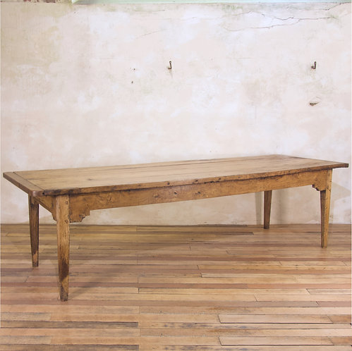 An Exceptionally Large 18th Century Elm Farmhouse Table