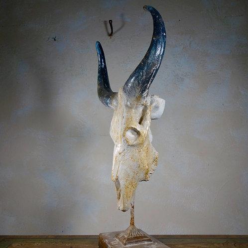 Decorative 20th Cent Faux Buffalo Skull Sculpture