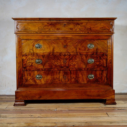 A 19th Century Walnut French Louis Philippe Commode