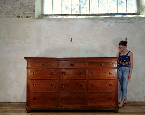 A Monumental 19th Century Italian Bank Of Drawers - Sideboard