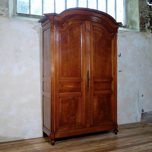 An Extremely Large French Louis XVI Walnut Armoire - Wardrobe