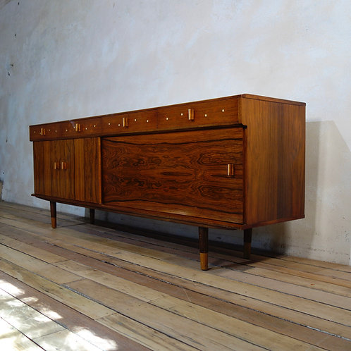 Late 20th Century Brazilian Rosewood Sideboard Credenza