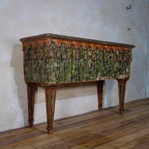 A 19th Century Italian Painted Venetian Console Table