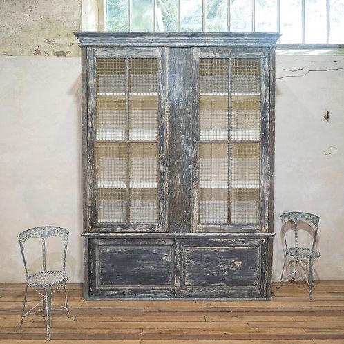 A Large Scale 19th Century Painted Housekeepers Cupboard