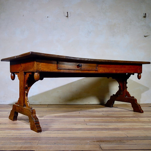 A Large 18th-Century French Provincial Farmhouse Kitchen Table