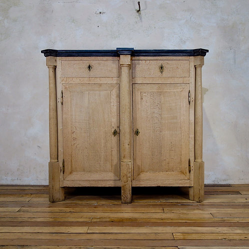 A Tall Early 19th Century French Bleached Oak Empire Side Cabinet Cupboard